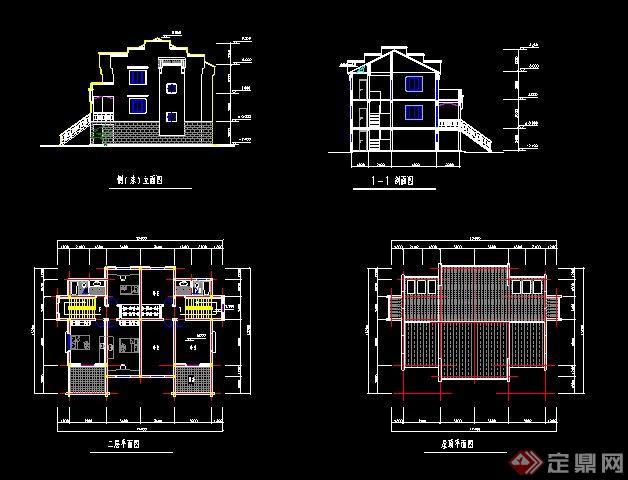 徽派中式別墅建筑方案及效果圖(4)