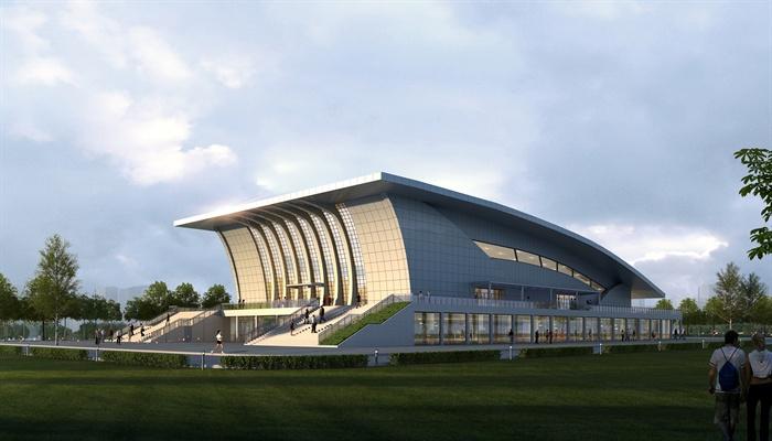 现代风格详细体育馆建筑设计3d模型