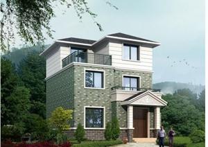 某美式风格详细精致别墅建筑设计cad施工图