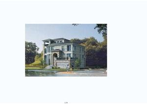 某欧式风格农村别墅建筑设计JPG方案