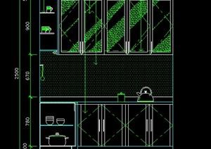住宅厨房立面图CAD图