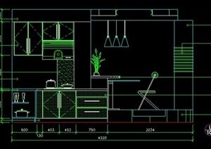 家装住宅厨房立面图CAD图