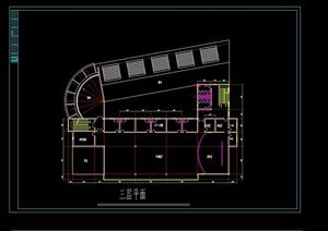 某现代风格会所建筑设计CAD施工图