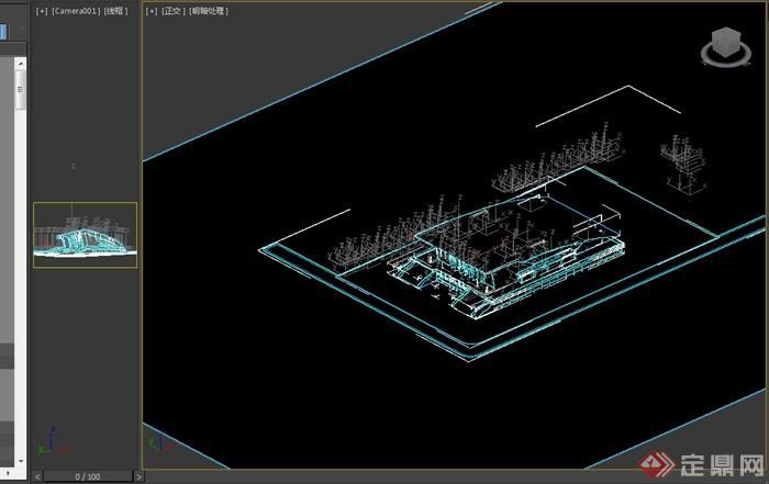 现代风格详细体育馆建筑设计3d模型(3)