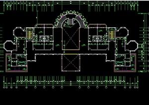 某精致欧式风格会所建筑设计CAD施工图