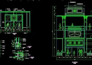 服裝店門面及櫥窗設計施工圖