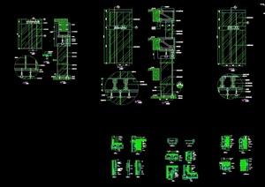 现代风格详细幕墙详图设计cad施工图