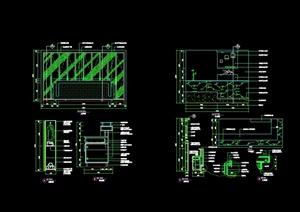 現代風格詳細接待臺室內設計cad施工詳圖