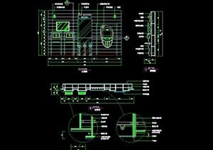 现代风格详细通讯店实例及道具设计cad施工图
