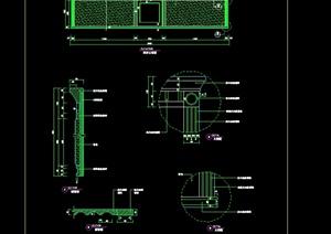 现代风格客房家具室内设计cad施工详图