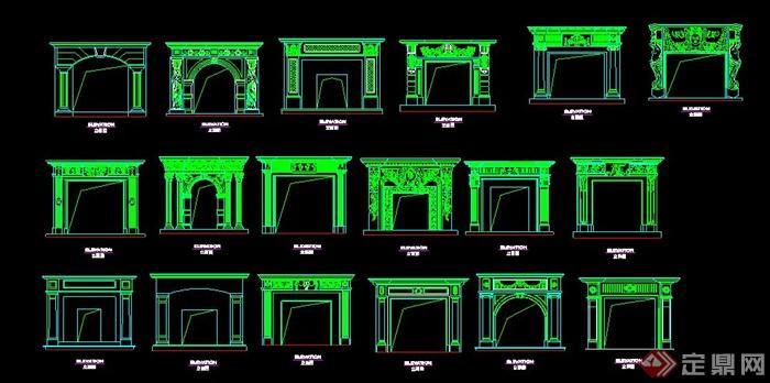 18種壁爐設計方案圖(4)