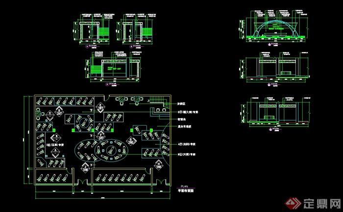 cad摩托车平面模型_现代风格详细摩托车展厅设计cad施工详图[原创]