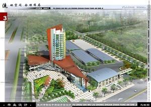 建筑学优秀毕业设计-某市物流中转站建筑设计cad全套资料