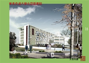 建筑学优秀毕业设计华东交大北区图书馆设计cad全套资料