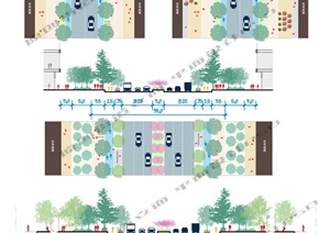 道路街道剖立面PSD方案