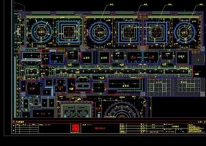 现代风格详细梦露红酒会所设计cad施工图