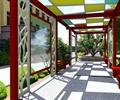 学校景观,廊架,廊架坐凳