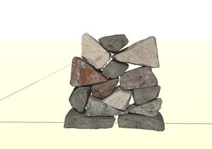 179个园林景观石头假山景观石置石单体模型