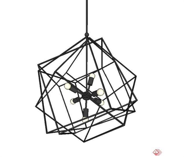 现代简约风格吊灯素材设计su模型(1)