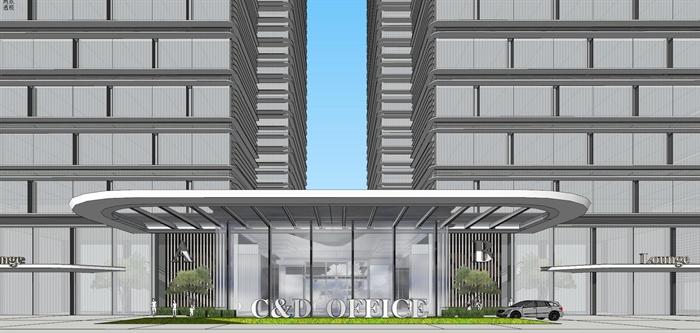 精品現代投標商業綜合體項目建筑設計方案SU模型及高清效果圖(5)