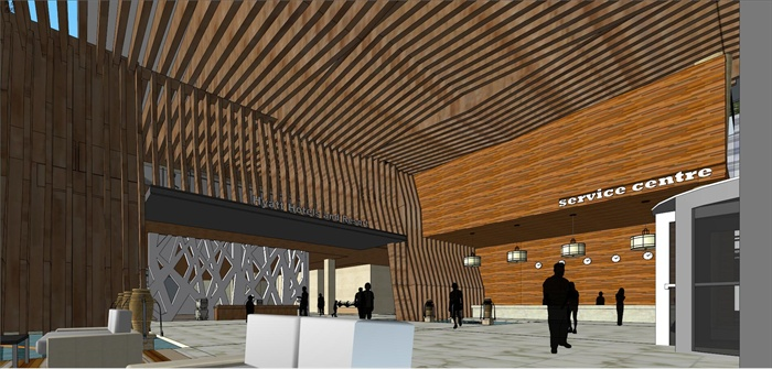 精品現代投標商業綜合體項目建筑設計方案SU模型及高清效果圖(7)