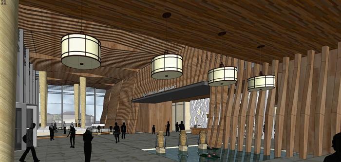 精品現代投標商業綜合體項目建筑設計方案SU模型及高清效果圖(9)