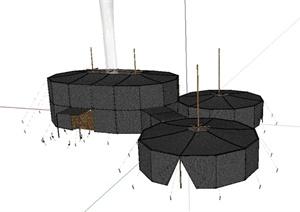 蒙古包帐篷设计SU(草图大师)模型