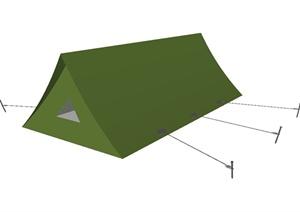 绿色帐篷详细设计SU(草图大师)模型
