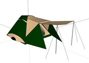 帐篷独特详细设计SU(草图大师)模型