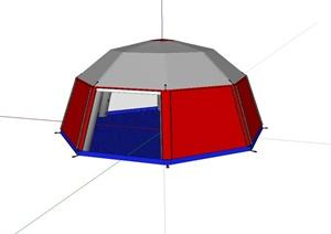 蒙古包帐篷详细设计SU(草图大师)模型
