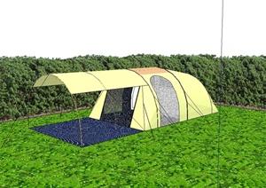 帐篷详细完整设计SU(草图大师)模型