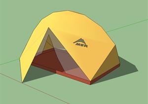 黄色帐篷设计SU(草图大师)模型