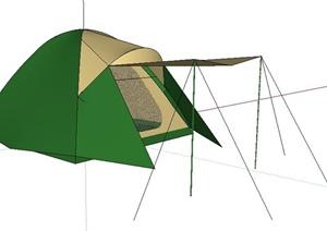 野营帐篷素材SU(草图大师)模型