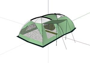 帐篷详细的设计SU(草图大师)模型