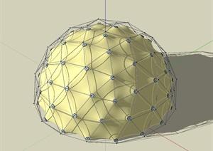 充气帐篷详细设计SU(草图大师)模型
