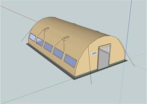 某拱形帐篷设计SU(草图大师)模型
