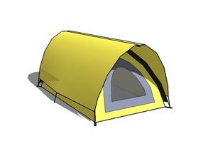 黄色露营帐篷设计SU(草图大师)模型