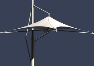 现代风格详细张拉膜雨棚3d模型