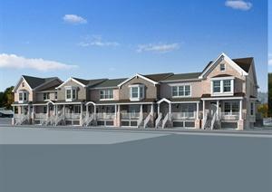 欧式风格详细多层别墅设计3d模型及效果图
