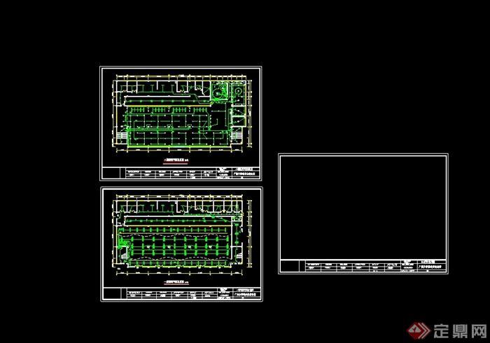 某现代风格详细大学食堂装修设计cad施工图及效果图(7)