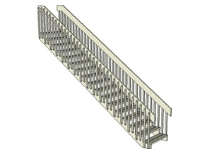 现代风格室内楼梯踏步设计SU(草图大师)模型