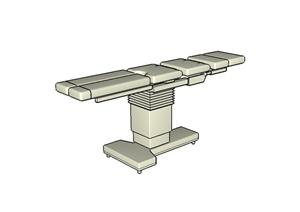 某详细的手术床设计SU(草图大师)模型
