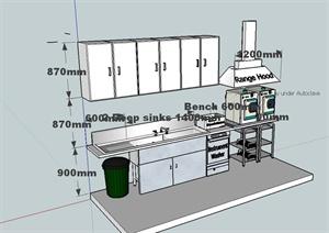 护士站医疗设备设计SU(草图大师)模型