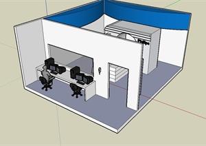菲利普CT机设计SU(草图大师)模型