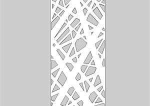 现代金属镂空装饰板设计SU(草图大师)模型