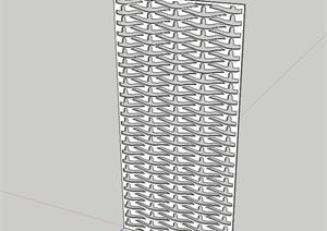 详细的金属镂空装饰板设计SU(草图大师)模型