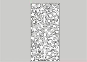 现代详细的镂空装饰板设计SU(草图大师)模型