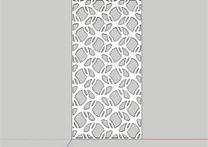 某室内详细的金属镂空装饰板设计SU(草图大师)模型