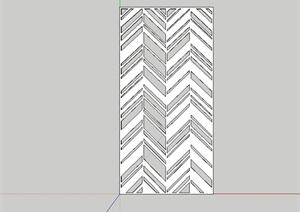 室内详细的金属镂空装饰板设计SU(草图大师)模型