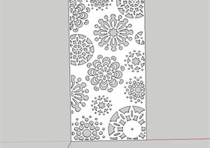金属镂空装饰板窗设计SU(草图大师)模型